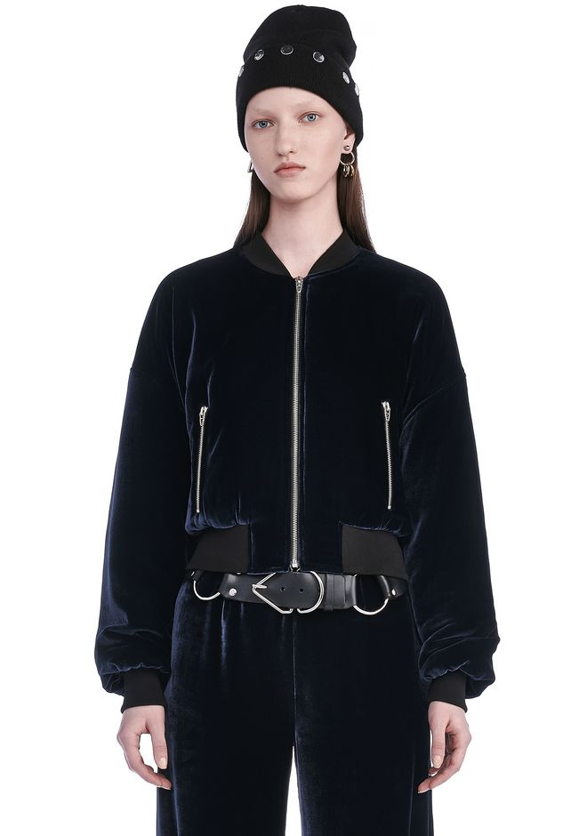 T by ALEXANDER WANG SILK VELVET BOMBER JACKETS AND OUTERWEAR  Adult 12_n_e