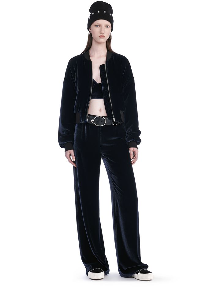 T by ALEXANDER WANG SILK VELVET BOMBER JACKETS AND OUTERWEAR  Adult 12_n_f