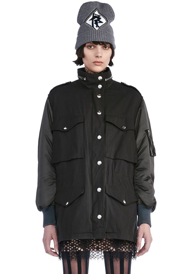 ALEXANDER WANG JACKETS AND OUTERWEAR  Women PARKA JACKET WITH BOMBER DETAILS