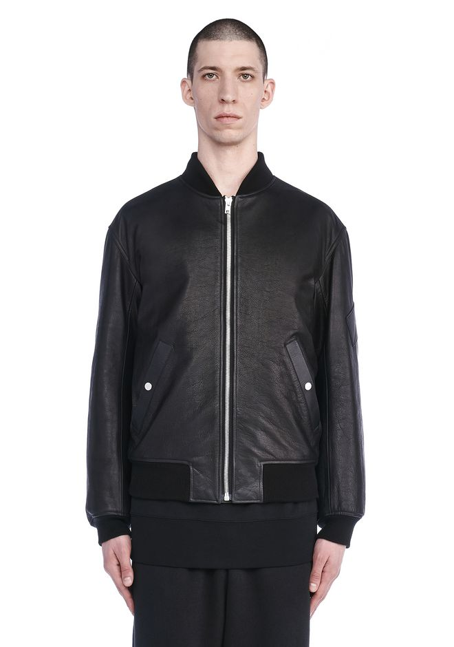 ALEXANDER WANG JACKETS AND OUTERWEAR  Men CLASSIC LEATHER BOMBER