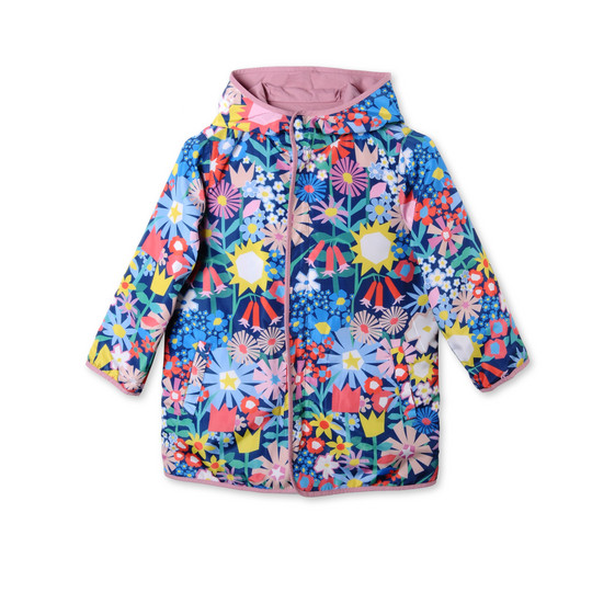Floral Collage Reversible Parka
