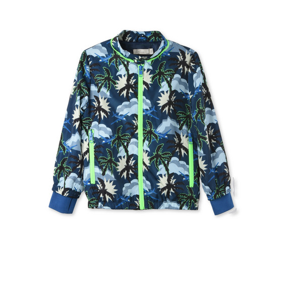 Blue Hawaiian Print Scout Jacket