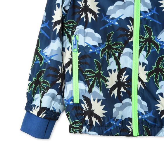 Blue Hawaiian Print Scout Jacket