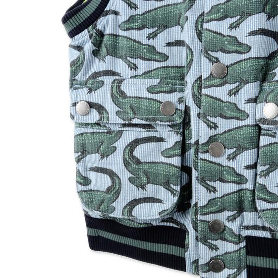 Blue Croc Print Rhubarb Vest