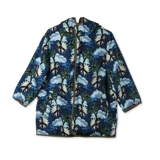 Parka Tripper con Stampa Hawaiana Blu