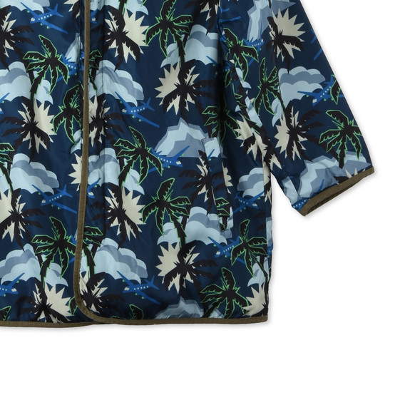 Blue Hawaiian Print Tripper Parka