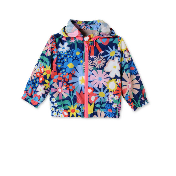 Floral Collage Print Scout Jacket
