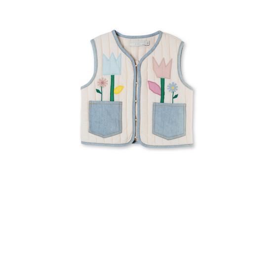 Floral Appliqué Twister Vest