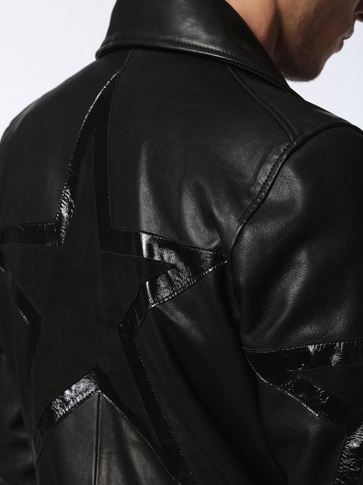 DIESEL L-JASPER-ED Leather jackets U b
