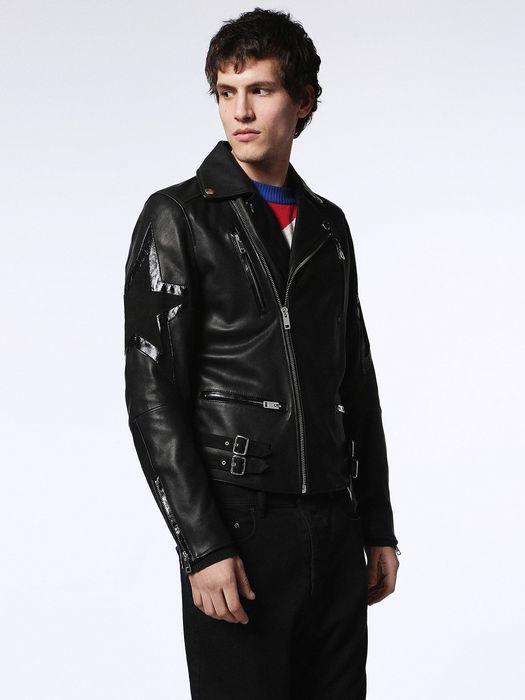 DIESEL L-JASPER-ED Leather jackets U d