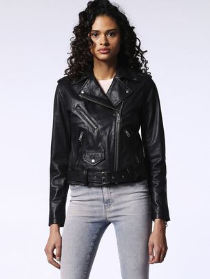 DIESEL L-LUPUS-L Leather jackets D f