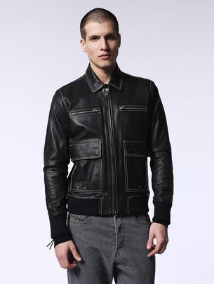 DIESEL L-BOOM Leather jackets U f