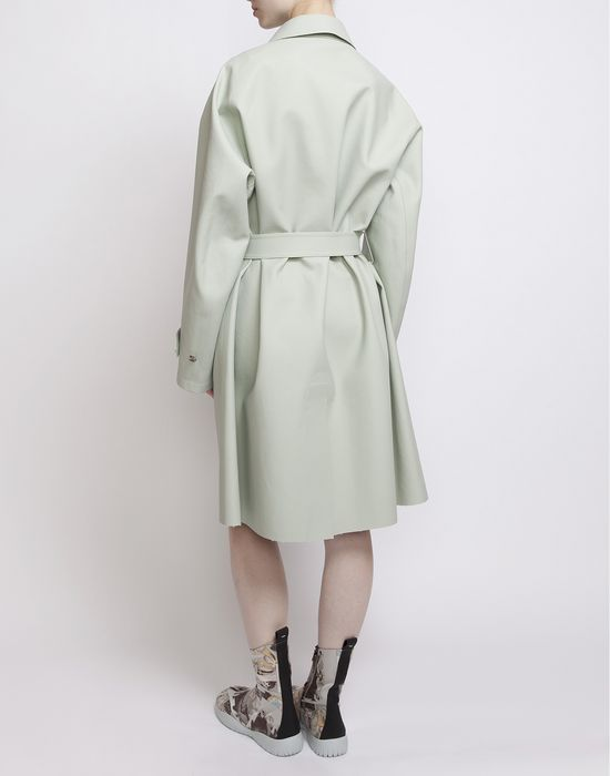 MAISON MARGIELA Look 1: Oversized Celadon Trench Coat D r
