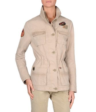 NAPAPIJRI AZUERO WOMAN SHORT JACKET,BEIGE