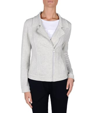 NAPAPIJRI AKELEY JERSEY WOMAN SHORT JACKET,LIGHT GREY