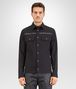 BOTTEGA VENETA SHIRT IN NERO COTTON, INTRECCIATO NAPPA DETAILS Coat or Jacket U fp