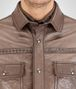 BOTTEGA VENETA SHIRT IN STEEL LEATHER, INTRECCIATO DETAILS Outerwear and Jacket Man ap