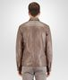 BOTTEGA VENETA SHIRT IN STEEL LEATHER, INTRECCIATO DETAILS Outerwear and Jacket Man dp