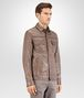 BOTTEGA VENETA SHIRT IN STEEL LEATHER, INTRECCIATO DETAILS Outerwear and Jacket Man rp
