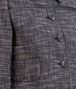 BOTTEGA VENETA BLOUSON IN MULTICOLOR COTTON TWEED, INTRECCIATO NAPPA DETAIL Coat or Jacket Woman ep