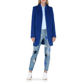 Cappotto Brice Color Blu Petrolio