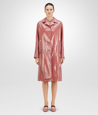 COAT IN DUSTY ROSE LAMBSKIN, INTRECCIATO DETAILS