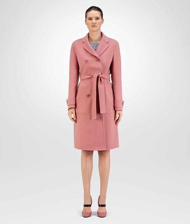 BOTTEGA VENETA COAT IN DUSTY ROSE DOUBLE CASHMERE Outerwear and Jacket Woman fp