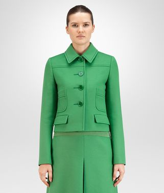 BLOUSON IN WOOL SHAMROCK