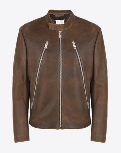 MAISON MARGIELA 14 Leather Jacket U Ovine leather jacket with zip details f