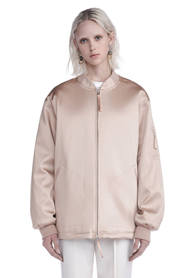 T by ALEXANDER WANG JACKETS AND OUTERWEAR  Women WATER RESISTANT NYLON BOMBER
