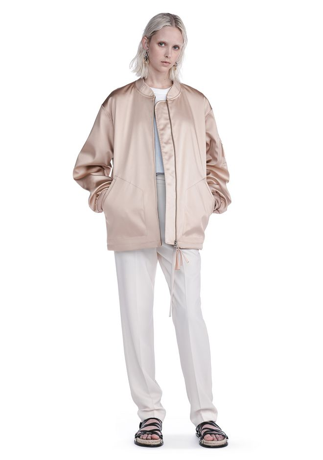 T by ALEXANDER WANG JACKETS AND OUTERWEAR  WATER RESISTANT NYLON BOMBER