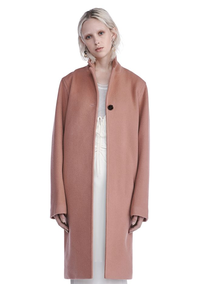 T by ALEXANDER WANG JACKETS AND OUTERWEAR  Women LONG WOOL CAR COAT