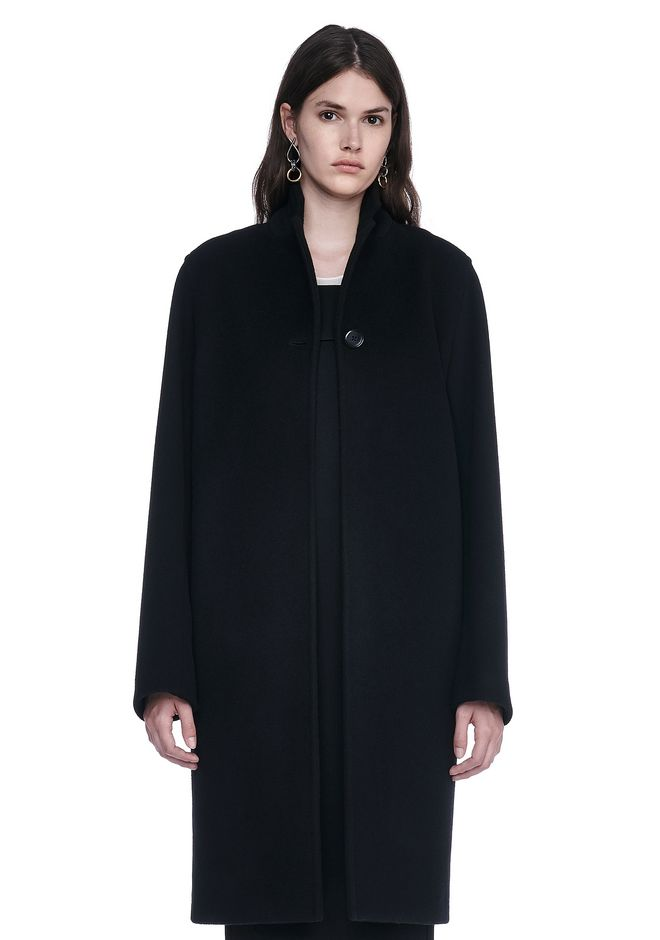 T by ALEXANDER WANG JACKETS AND OUTERWEAR  LONG WOOL CAR COAT