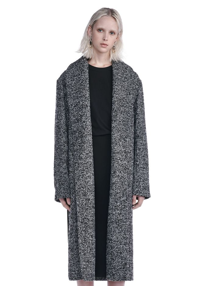 T by ALEXANDER WANG new-arrivals-t-by-alexander-wang-woman SHAWL COLLARED BELTED COAT