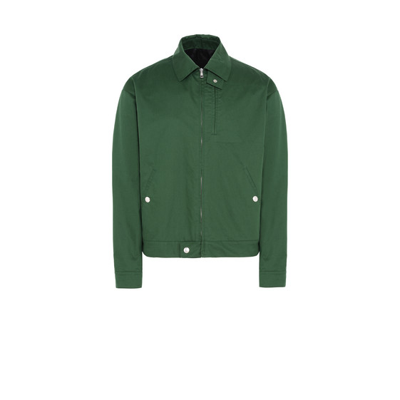 Green Technical Cotton Jacket
