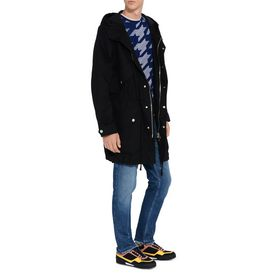 Black Technical Cotton Parka Jacket