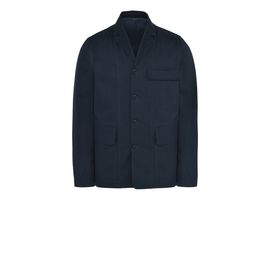 STELLA McCARTNEY MEN Men Short U Dark Navy Cotton Drill Jacket f