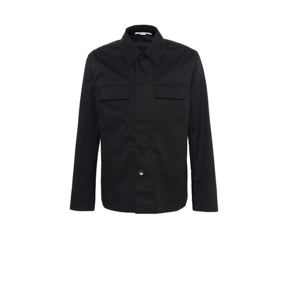 Black Technical Cotton Shirt