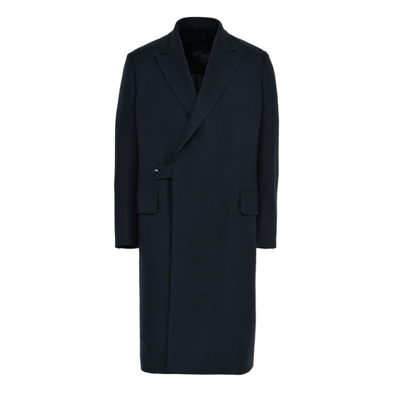 Dark Navy Wool Felt Coat