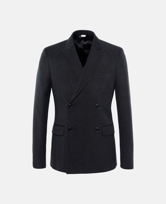 Veste de costume noire en toile