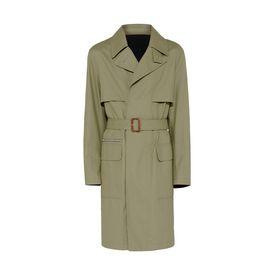 STELLA McCARTNEY MEN Men Trench Coats U コーテッド コットン リネン トレンチ コート f