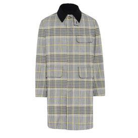 STELLA McCARTNEY MEN Men Long U Structured Wool Check Coat f
