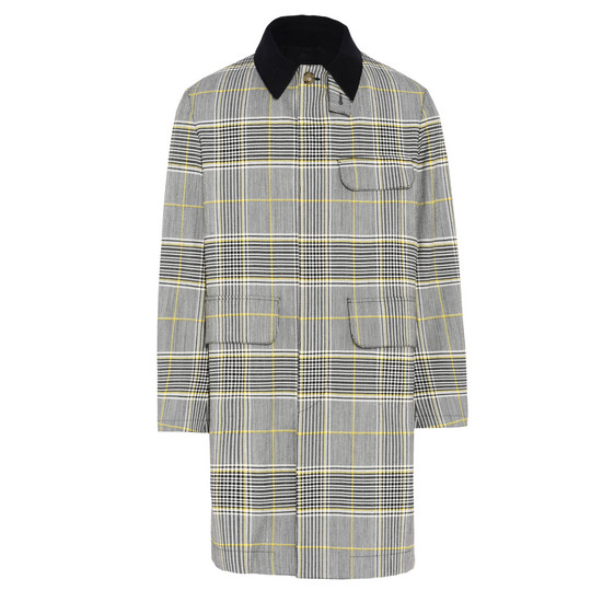 Structured Wool Check Coat