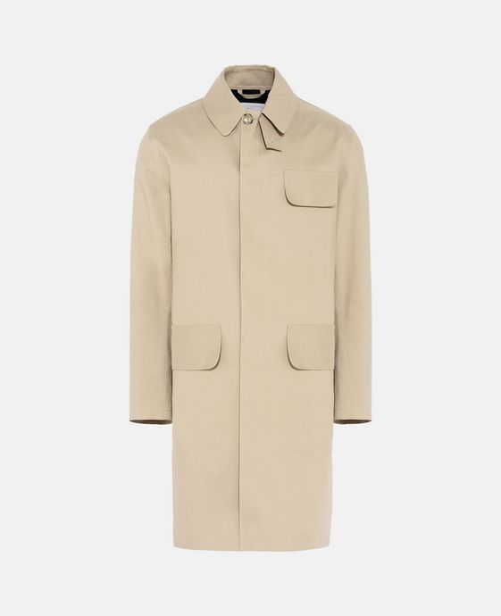 Trench-coat en coton technique contrecollé