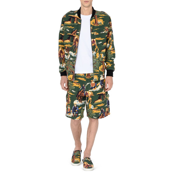 Country Scene Bomber Jacket