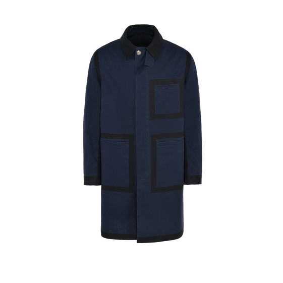 Black Bonded Cotton Trench
