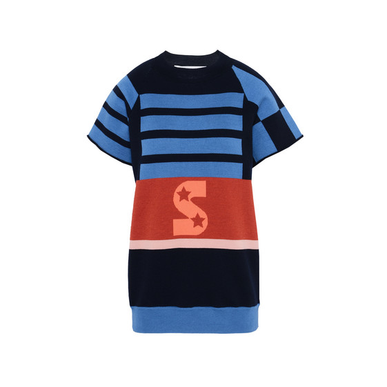Short Sleeved Striped Jumper