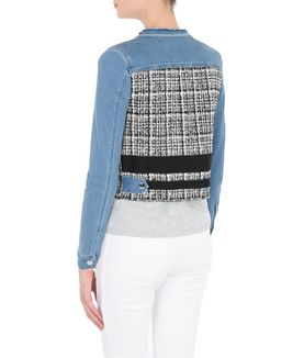 KARL LAGERFELD DENIM & BOUCLÉ JACKET