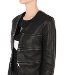 KARL LAGERFELD CROPPED LEATHER ZIP JACKET 8_e