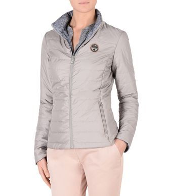 NAPAPIJRI ARAMBLA REVERSIBLE JACKET WOMAN SHORT JACKET,LIGHT GREY
